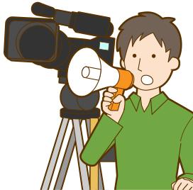 映画監督のイラスト