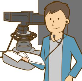 テレビプロデューサーのイメージイラスト