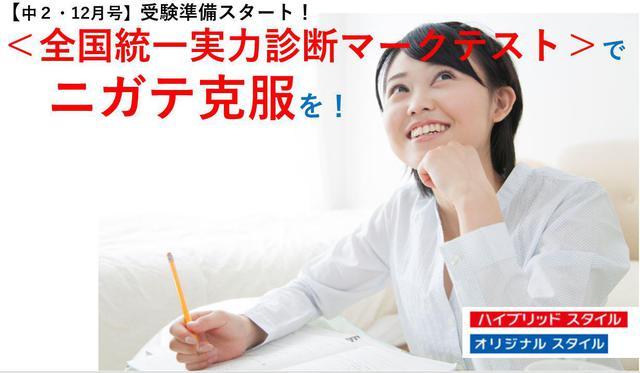 【中2・12月号】受験準備スタート!<全国統一実力診断マークテスト>でニガテ克服を!